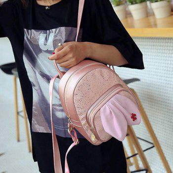 Rabbit Ear Sequined Backpack - PINK