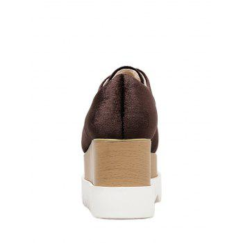 Wedge Heel Casual Shoes - WINE RED 39