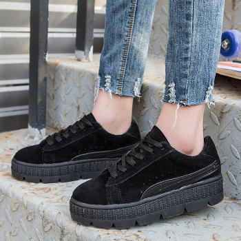 Platform Heel Increased Internal Skate Shoes - BLACK 38
