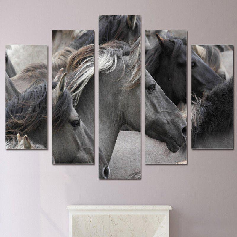 Gorgeous Horses Printed Canvas Wall Art Paintings burning guitar pattern unframed wall art canvas paintings