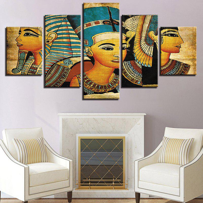 Vintage Tribal Girls Pattern Canvas Split Wall Art Paintings leopard pattern wall art split canvas paintings