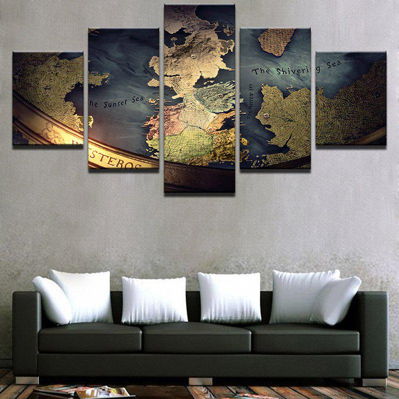 Nautical Chart Printed Unframed Canvas Wall Art Paintings colorful bricks wall printed unframed canvas paintings