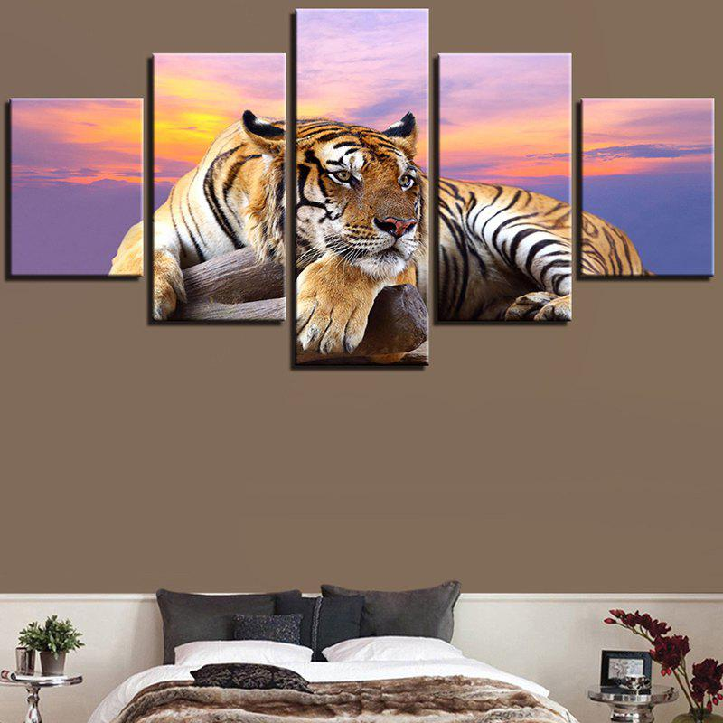 Sunset Tiger Print Canvas Unframed Wall Art Paintings sunset seascape patterned canvas wall art paintings