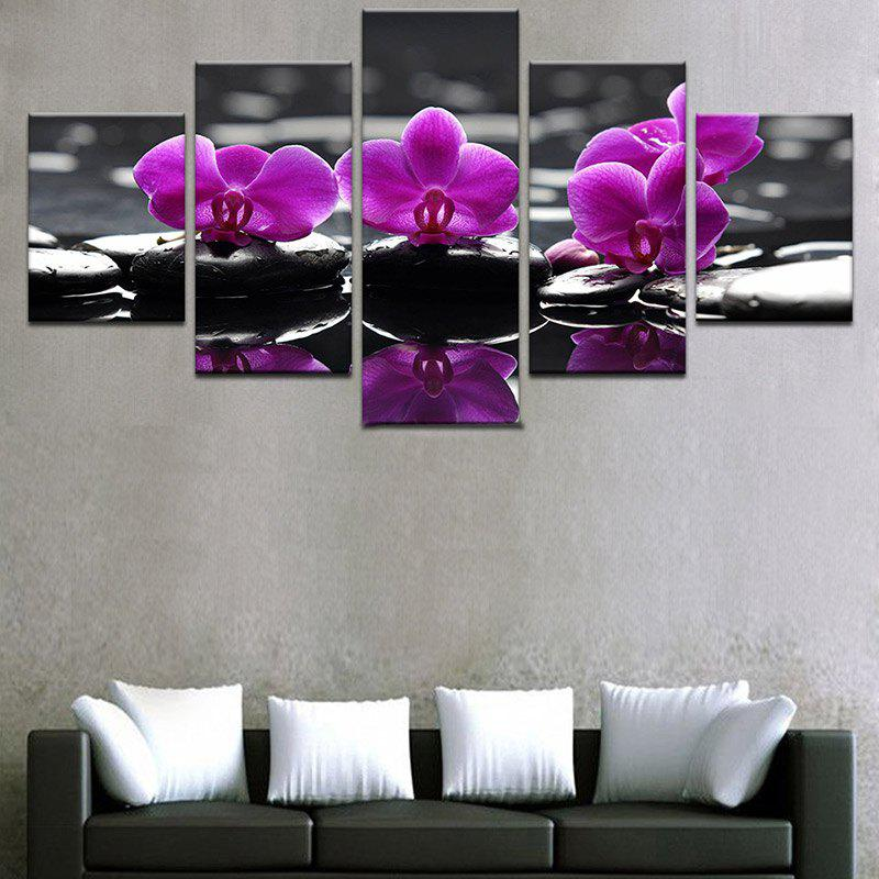Flowers Reflection Printed Split Unframed Canvas Paintings wall art sunset pyramids printed unframed canvas paintings