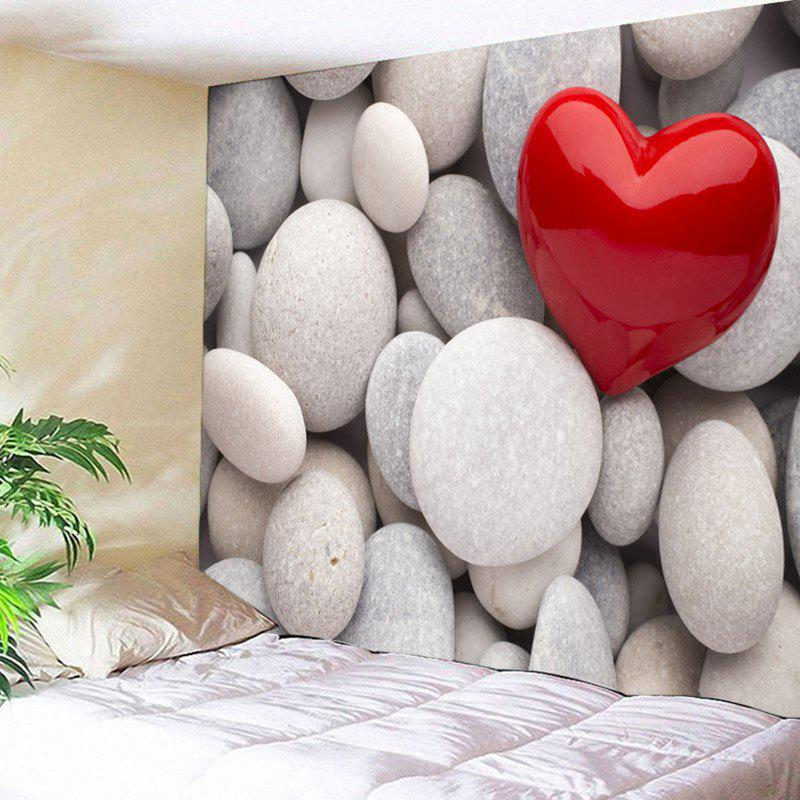 Pebbles Love Heart Print Wall Hanging Tapestry valentine s day heart starlight print tapestry wall hanging decoration