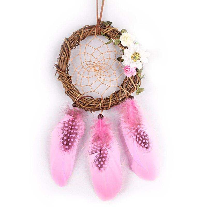 Handmade Wreath Dream Catcher Wall Hanging - COLORMIX