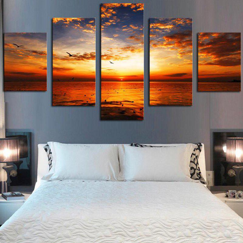 Sunset Seascape Print Canvas Unframed Wall Art Paintings sunset seascape patterned canvas wall art paintings