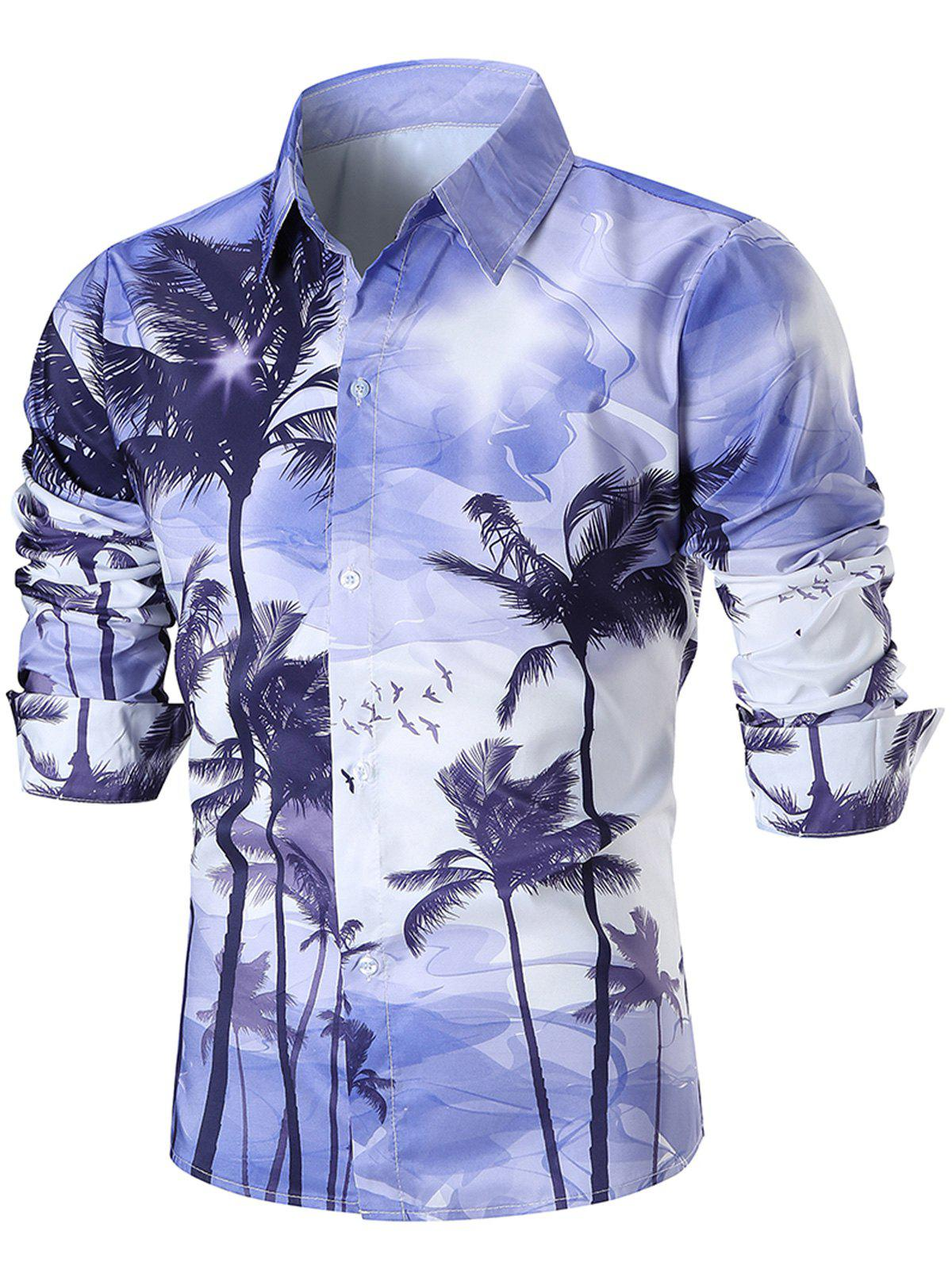 Coconut Trees 3D Print Casual Shirt flame trees of thika