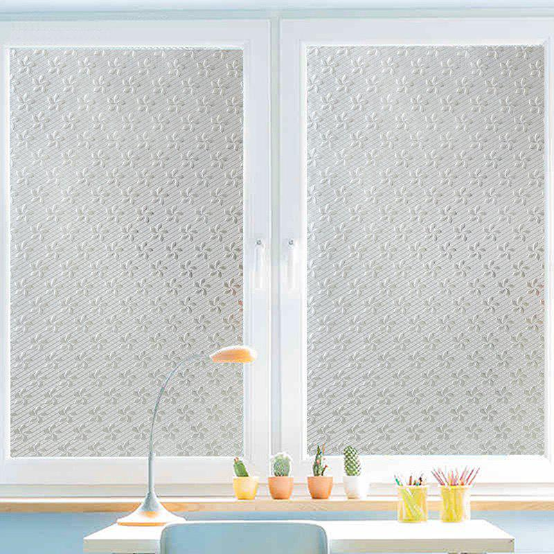 Flowers Pattern Window Film Sticker - TRANSPARENT 45X100CM