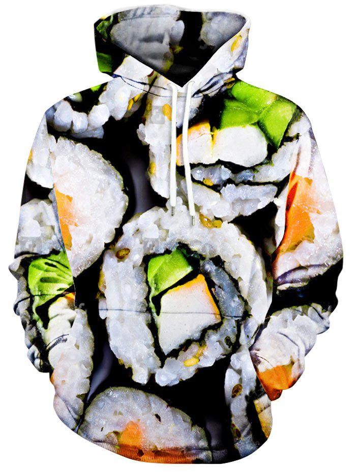 Kimbap Pattern Kangaroo Pocket Hoodie - COLORMIX XL