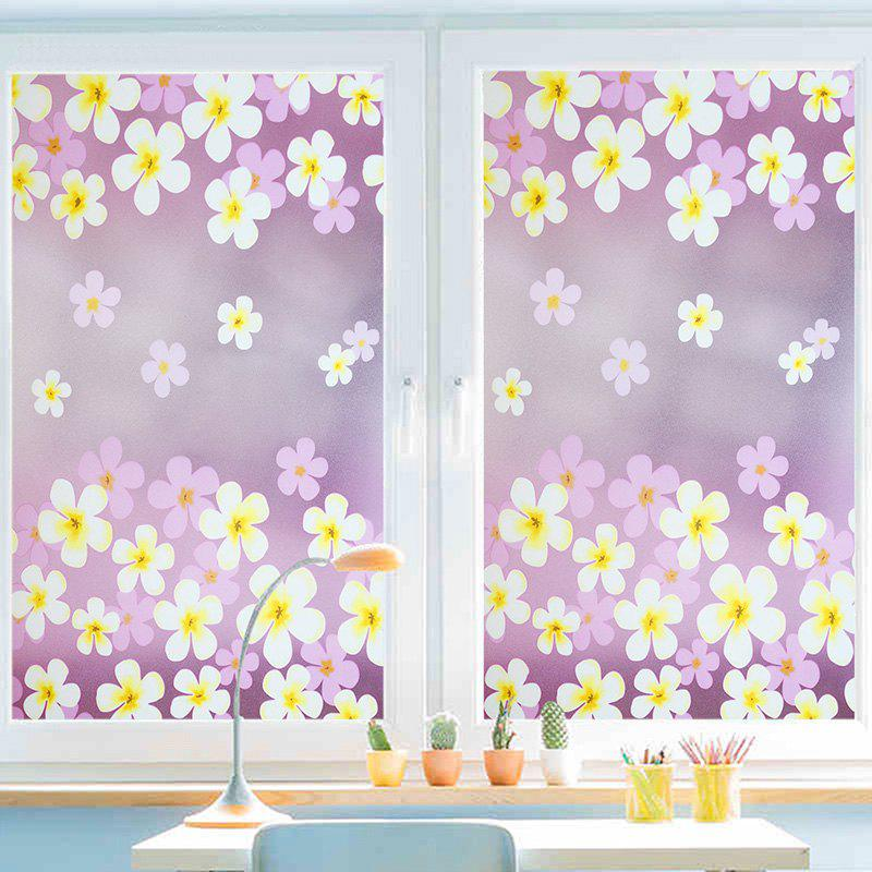 One Roll Flowers Pattern Window Film Stickers - COLORMIX 45X100CM