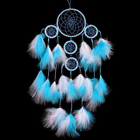 Handmade Indian Dream Catcher Wall Hanging - LAKE BLUE