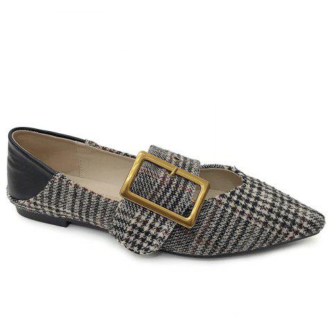 Tweed Buckle Strap Buckle Strap Flat - GRAY 37