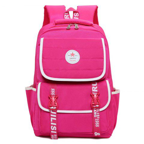 Contrast Color Letter Print Couples Backpack - TUTTI FRUTTI
