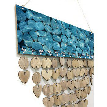 Pebbles in Water Pattern Birthday Reminder Reminder Board Wooden DIY Calendar - WOOD