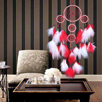 Handmade Indian Dream Catcher Wall Hanging - RED