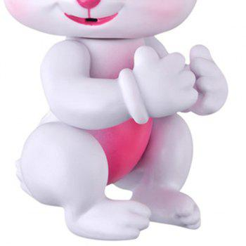 Smart Sensor Baby Rabbit Mini Interactive Finger Toy - WHITE 13.2*6.8*7.3CM