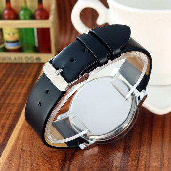 Geometric Face Steel Strap Watch - BLACK FOR WOMEN