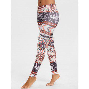Geometric Print Behemian Leggings - COLORMIX COLORMIX
