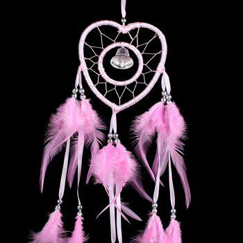 Bell Feather Hanging Handmade Dream Catcher - PINK