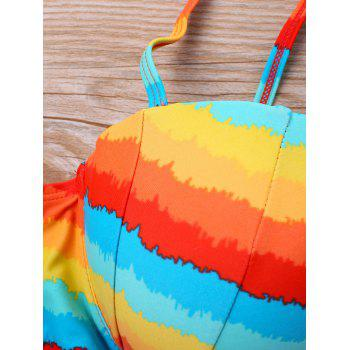 Rainbow Full Cup Swim Bra - COLORMIX M