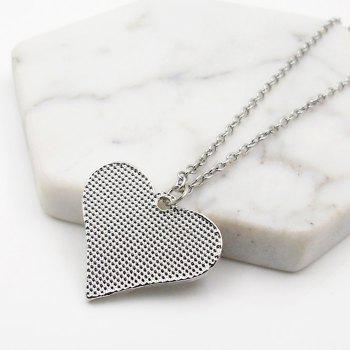 Engraved Claw Footprint Love Heart Necklace - SILVER