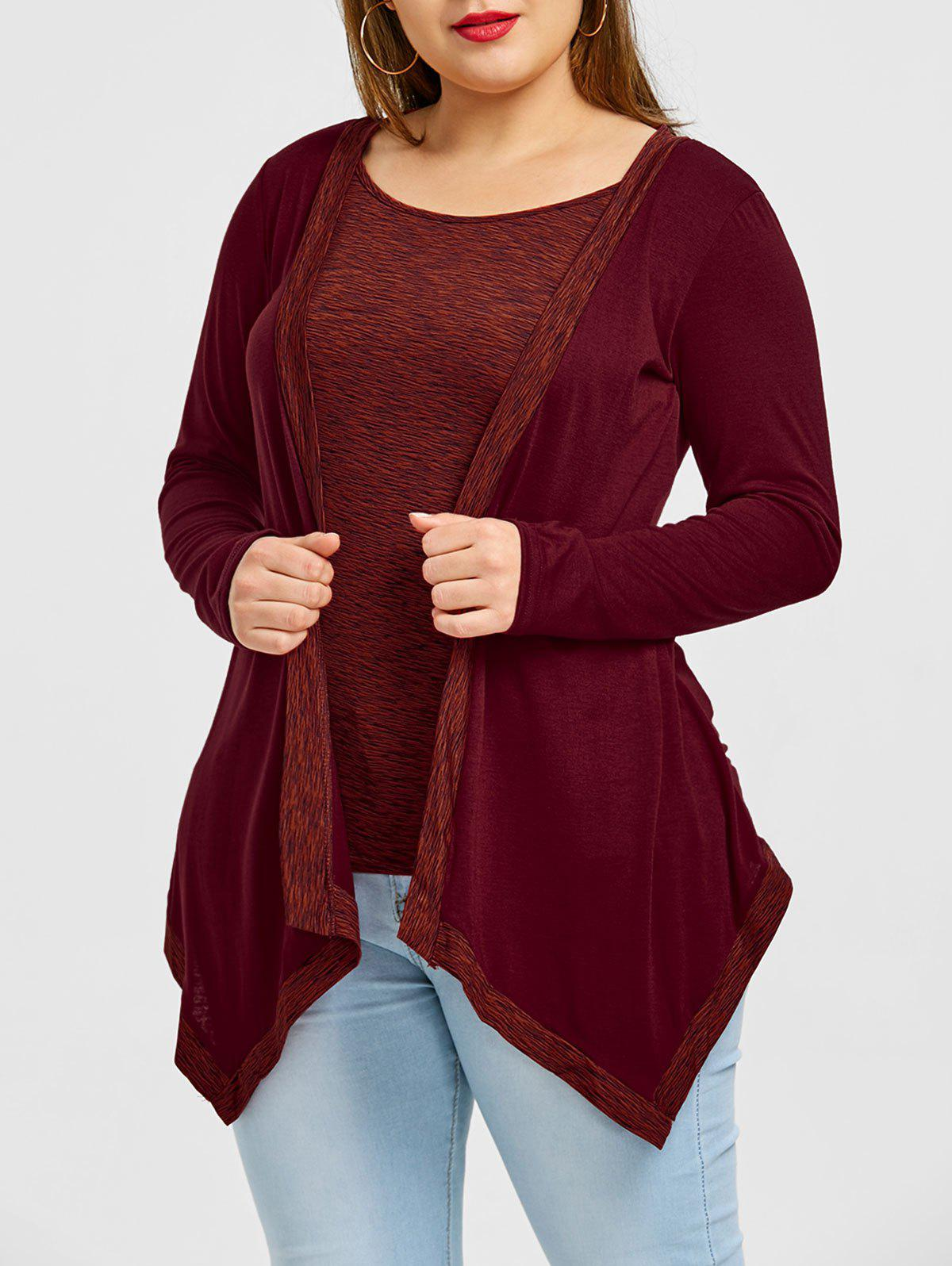 Heather Asymmetrical Plus Size T-shirt heather plus size hoodie