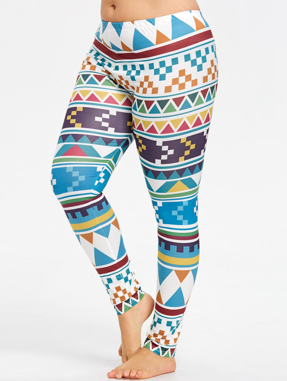 Plus Size Geometric Yoga Tights машинка welly 1 32 mercedes benz glk 39889