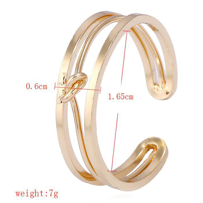 Open Alloy Hollow Out Ring - GOLDEN ONE-SIZE