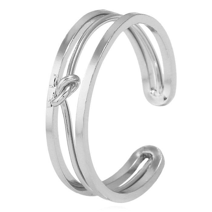 Open Alloy Hollow Out Ring - SILVER ONE-SIZE
