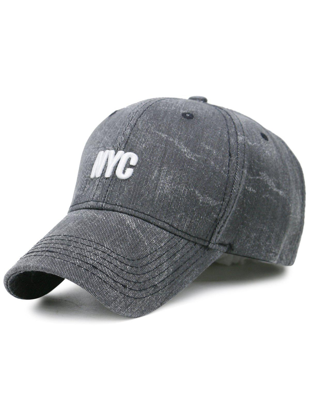 2018 Unique Nyc Embroidery Washed Baseball Hat Black In Hats Online
