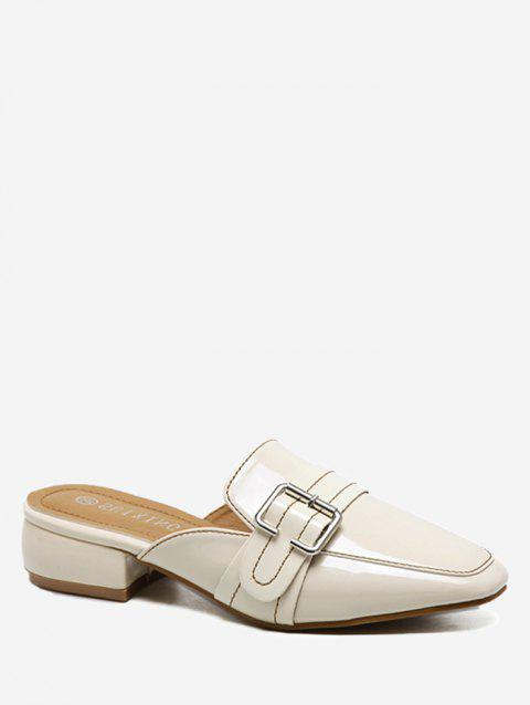 Low Heel Buckled Mules Shoes - APRICOT 35
