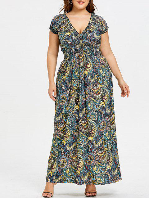 Limited Offer 2018 Smocked Empire Waist Plus Size Dress In Floral