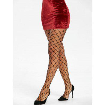Strass Big Fishnet Collants - Noir ONE SIZE