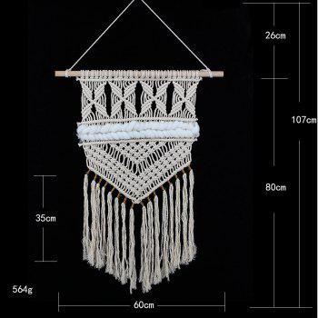 Fringed Handmade Woven Wall Hanging Decoration - OFF WHITE