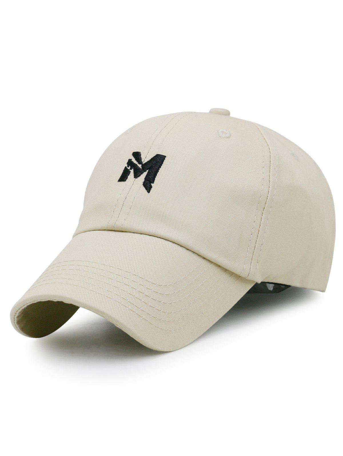 Simple Letter M Pattern Adjustable Baseball Cap unisex men women m embroidery snapback hats hip hop adjustable baseball cap hat