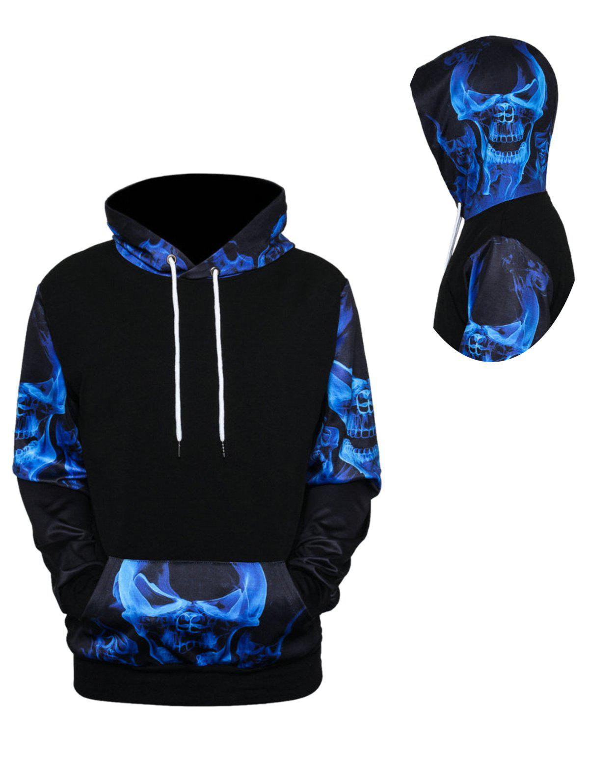 2018 Skulls 3D Printed Pullover Hoodie COLORMIX XL In ...
