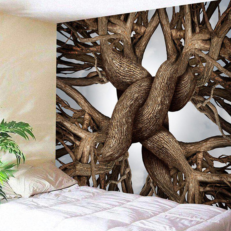 Wall Hanging Tree Root Print Novelty Tapestry valentine s day heart starlight print tapestry wall hanging decoration