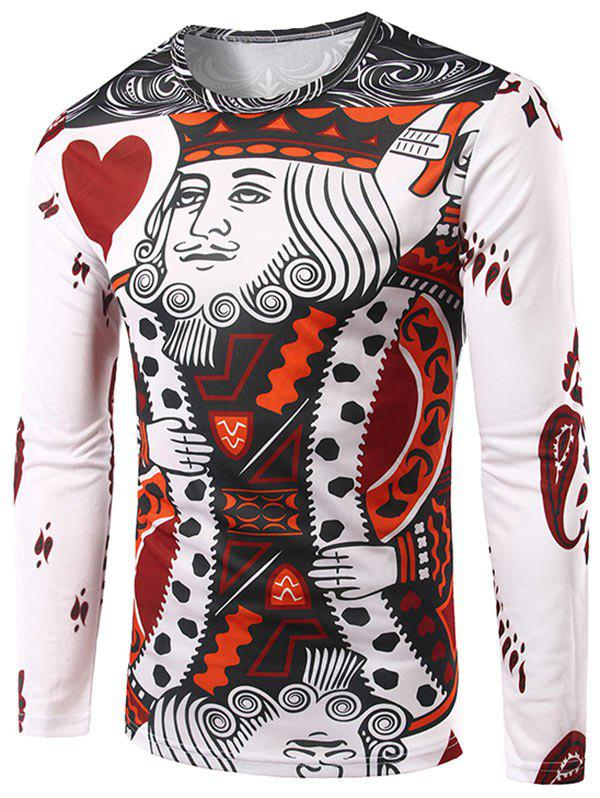 King of Heart Printed Funny T-shirt салфетки heart of india 200 12