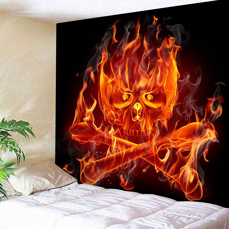 Pirate Flame Skull Print Wall Art Tapestry pirate attack