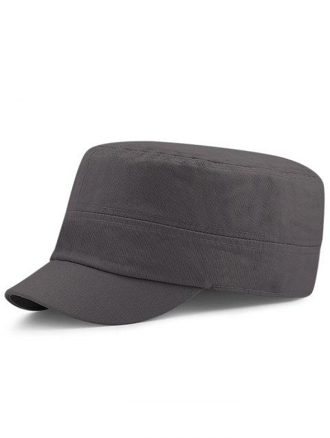 Soft Simple Stripe Pattern Elastic Military Cap - DARK GRAY