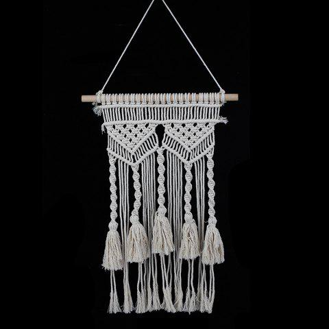 Wall Art Handmade Woven Wall Hanging - OFF WHITE