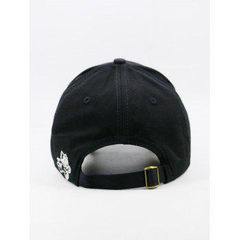 Funny Letter Embroidery Adjustable Baseball Cap - BLACK