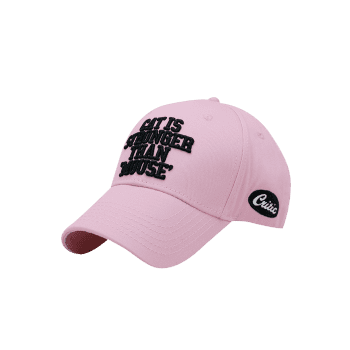 Funny Letter Embroidery Adjustable Baseball Cap - PINK
