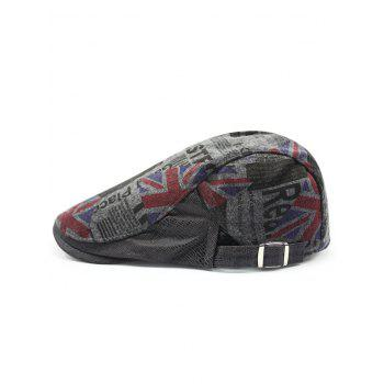 British Flag Embellished Adjustable Flat Hat - DEEP GRAY DEEP GRAY