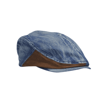 Retro Adjustable Washed Denim Newsboy Cap - DENIM BLUE