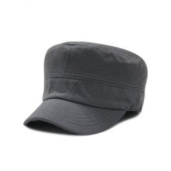 Vintage Simple Line Embroidery Embellished Military Hat - DEEP GRAY DEEP GRAY