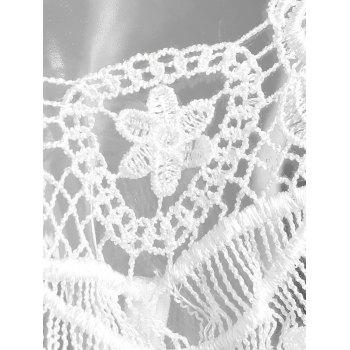 Appliques Tie Side String T-back - WHITE ONE SIZE