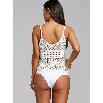 Cover Up Crochet Cami Top - WHITE WHITE