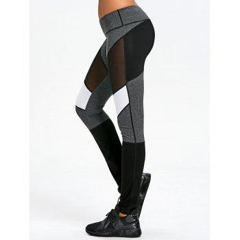 Mesh Insert Skinny Leggings - COLORMIX 2XL
